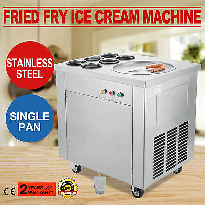 Fried Fry Ice Cream Maker Single Pot Machine Stainless Steel Fruit Milk 6 Ce