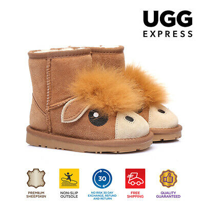 Kids UGG Boots - Child Pony Mini Classic,Premium Australian Sheepskin