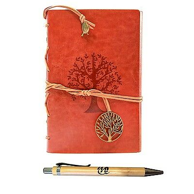 Classic Refillable Writing Journal (Ancient Oak Embossing) - Vintage Leather ...