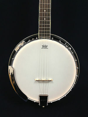 Caraya BJ-005 5-String Mahogany Resonator Banjo w/Free gig bag
