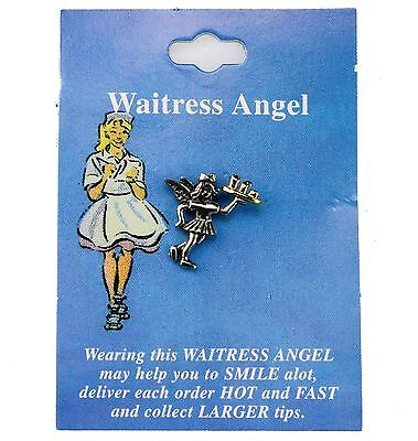 Waitress Angel Hat Lapel Pin