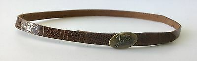 Genuine ostrich leather hat band    Adjustable Australian made by JACARU