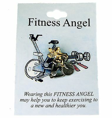 Fitness Angel Hat Lapel Pin