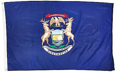 New 3x5 Michigan State Flag US USA American Flags