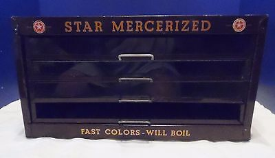 Vintage Star Mercerized Sewing Cotton Display Case / Cabinet