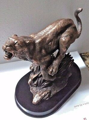 table sized leopard 1,bronze statue,