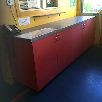 Shop Counter 2.5m length with storage
