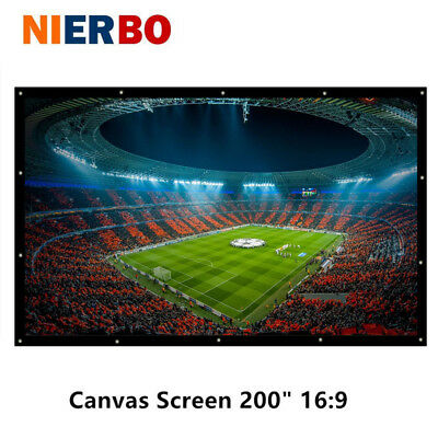 """NIERBO 200"""" Portable Projector Screen HD Fabric for Universal Projector LCD DLP"""