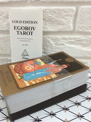 Egorov Tarot  Piatnik Deck Gold Edition 78 cards .New without a box !!!!