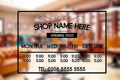 Open Closed Shop Sign Opening Times Hours Window sticker vinyl Christmas