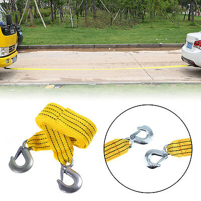 3 Tonne 3T 4M Car Tow Towing Pull Rope Strap Heavy Duty Road Recovery Reflective
