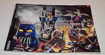 Lego BA 8894 Bionicle Lava Chamber Gate, only Instructions Manuel, ohne Steine