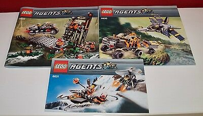 Lego BA Agents 8630, 8631, 8632, only Instructions Manuel,ohne Steine
