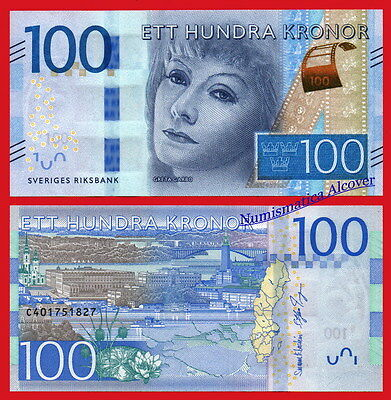 SUECIA SWEDEN 100 Kronor coronas Greta Garbo 2016 Pick NEW  SC / UNC