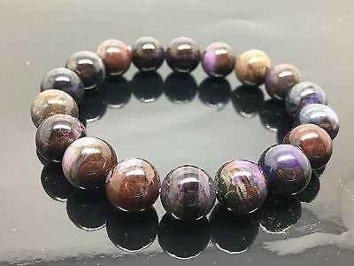 Sugilite Bracelet Natural Round Beads 11 mm AAA