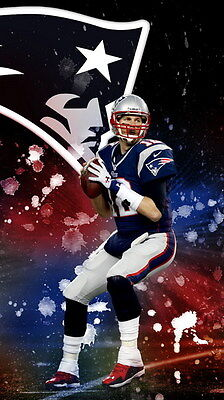 "075 Tom Brady - New England Patriots Super Bowl MVP NFL Player 24""x42"" Poster"