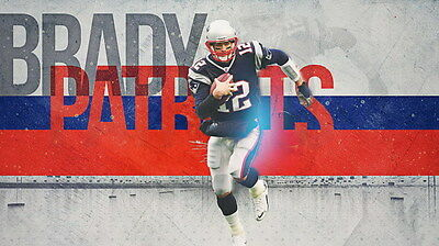 "091 Tom Brady - New England Patriots Super Bowl MVP NFL Player 42""x24"" Poster"