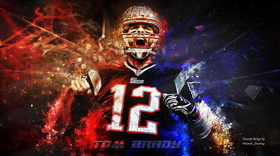 "096 Tom Brady - New England Patriots Super Bowl MVP NFL Player 42""x24"" Poster"