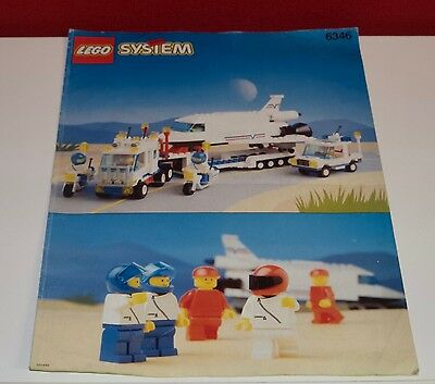 Lego BA Town Classic 6346 Space Shuttle, only Instructions Manuel,ohne Steine