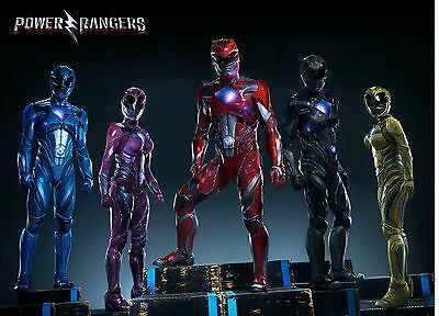 Unofficial POWER RANGERS movie 2017 (4) *A3* print Poster Dino Charge T-Rex NEW
