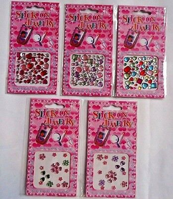 Stick on Jewellery Jewels Gems Self Adhesive. Party Bag Fillers