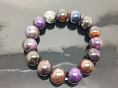 Sugilite Bracelet Natural Round Beads 13 mm AAA