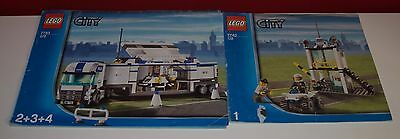 Lego BA 7743 Police Command Center, only Instructions Manuel,ohne Steine