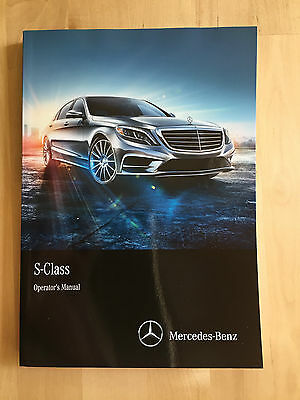 New Mercedes Benz English Owner's Manual S Class S550 4 Matic & S63 AMG 2014-17