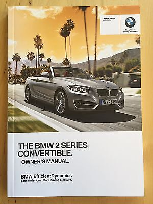 New BMW 2 Series 228i M235i Convertible X-Drive English Owner's Manual 2014-17