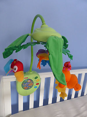 Fisher Price musical electronic mobile with remote control (peek-a-boo leaves)