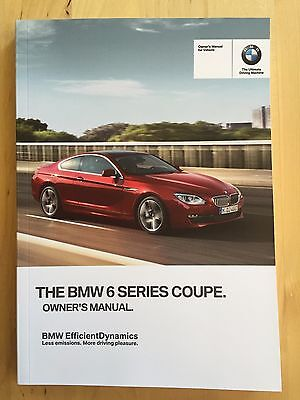 New BMW 6 Series 650i Coupe X-Drive English Owner's Manual 2012-17