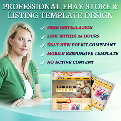 Professional eBay Store Shop Design, Auction Listing Mobile Responsive Template