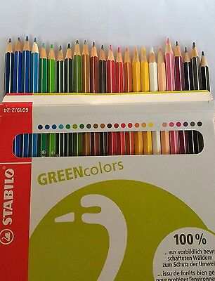 Stabilo Green colors Drawing / Coloured pencils  set of 24 Eco friendly