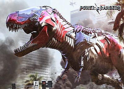 Unofficial POWER RANGERS movie 2017 (7) glossy A4 print Poster Dino Charge T-Rex