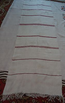 Antique HEMP HOMESPUN TOWEL TABLECLOTH real 19th great condition 10%OFF