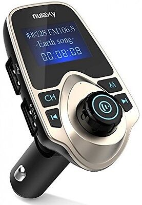 FM Transmitter, Nulaxy FM Transmitter Bluetooth Hands-free Calling Wireless Car