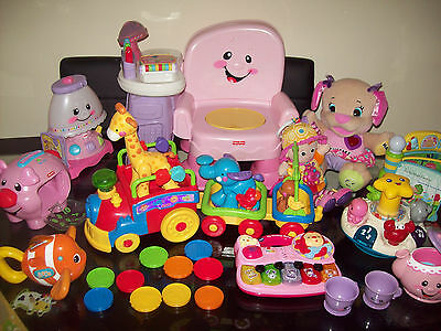 Bundle Of Baby Toddler Toys  Fisher Price Vtech Etc