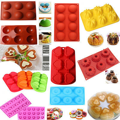 Silicone Round Cupcake Mold Muffin Chocolate Cake Candy Cookie Baking Mould Pan