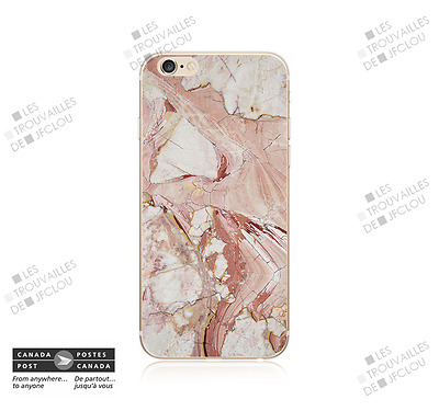 Cover for Apple iPhone 7 Fini Marbre Rose Marble Slim Soft Case Back Shell