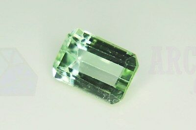 Green Tourmaline Octagon 10x7mm 2.5ct VS Loose Natural Gemstone Afghanistan