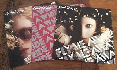 "GOLDFRAPP 3x 12""Vinyl Singles Fly Me Away+2x ride A White Horse With Promo Label"