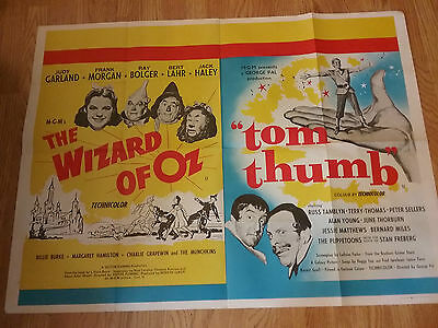 The Wizard of Oz Tom Thumb Original Quad Film Movie Poster peter sellers