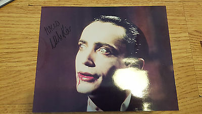 Udo Kier Signed Blood Of Dracula Andy Warhols Original hand Signed autograph