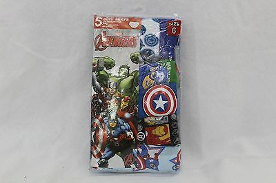 Boys' Avengers Assorted 5-Pack Briefs - Size 6