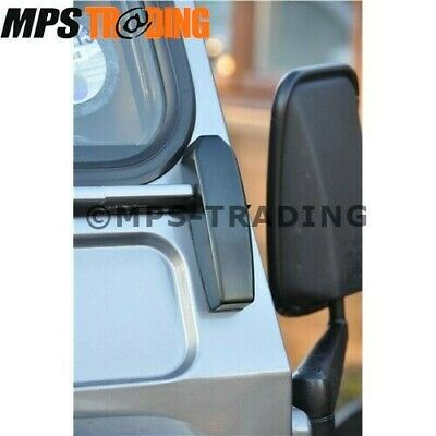 Land Rover Defender 90 110 130 Windscreen Black Bracket Set (Pair) - Da1142B