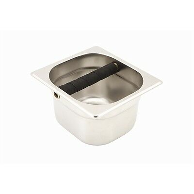 Genware Knock Out Pot 17X16X10cm Knock Box Espresso Machine Coffee Cafe Catering