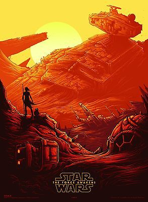 Ltd. Edition Star Wars Force Awakens VII Posters (Rouge One) by Dan Mumford NEW