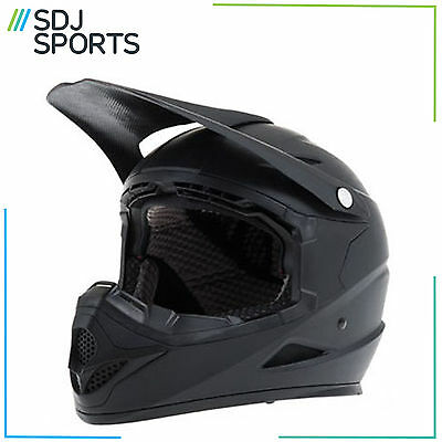 Diamondback Full Face Bike Helmet Mountain Bmx Mtb Black Cycle Scooter Downhill