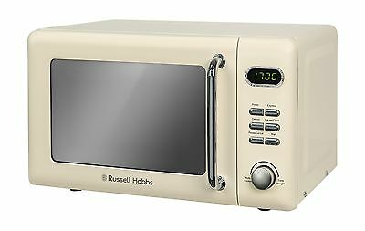 Russell Hobbs Retro Solo Digital Microwave 17 Litre 700 W Cream