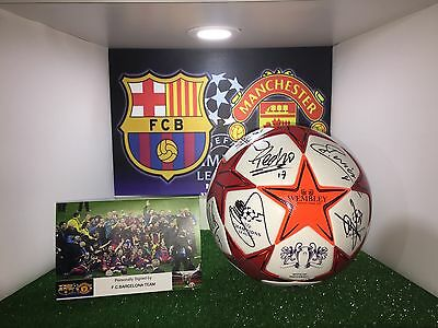 MESSI.ADIDAS MATCH BALL OFFICIAL FINAL WEMBLEY 2011. Signed by FC Barcelona team